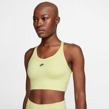 Nike Swoosh Air Padded sport bh Dames Groen