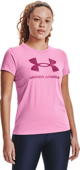 Under Armour Live Sportstyle Graphic shirt Dames Roze