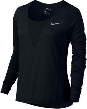 Nike Zonal Cooling Relay Running shirt Dames Zwart