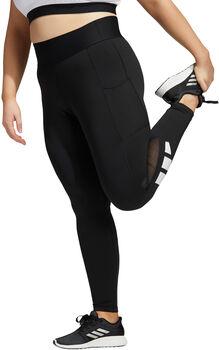 adidas Techfit Lange Logo legging (Grote Maat) Dames Zwart