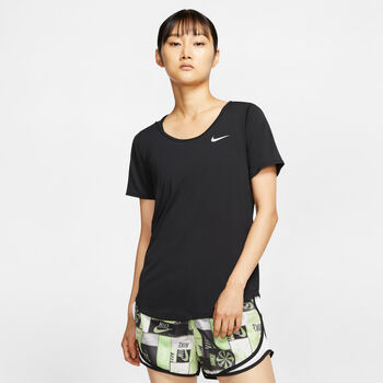 Nike Running shirt Dames Zwart