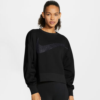 Nike Dri-FIT Get Fit Sparkle top Dames Zwart