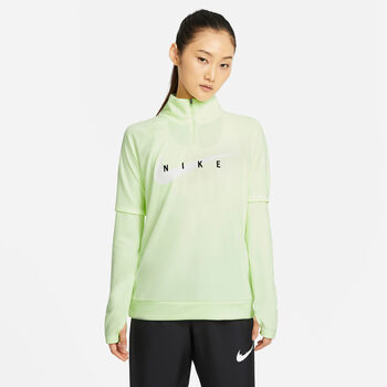 Nike Swoosh Run sweater Dames Geel