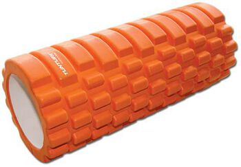 tunturi yoga foam grid roller 33cm Oranje