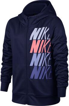 Nike Therma hoodie Meisjes Blauw