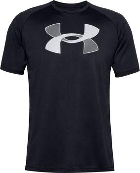 Under Armour Big Logo Tech SS t-shirt Heren Zwart