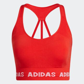 adidas Training Aeroknit beha Dames Rood
