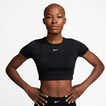 Nike Pro Aeroadapt Cropped shirt Dames Zwart