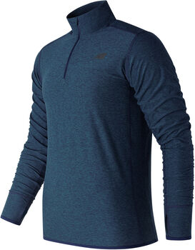 New Balance Transit Quarter Zip shirt  Heren Blauw