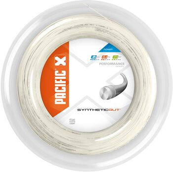 Pacific Synthetic Gut 200M - 1.30 mm tennissnaar Wit