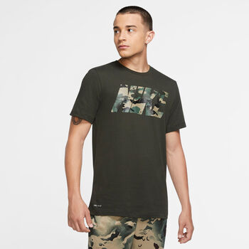 Nike Dri-FIT Camo trainingsshirt Heren Groen