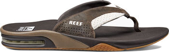 Reef Leather Fanning slippers Heren Wit