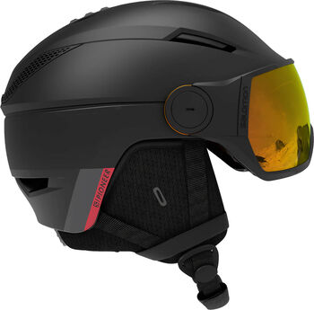 Salomon Pioneer Visor Photo skihelm Heren Zwart