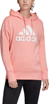 ADIDAS Badge of Sport Long Hoodie Dames Rood