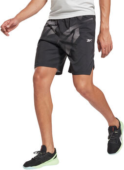 Reebok Workout Ready Allover Print Short Heren Zwart