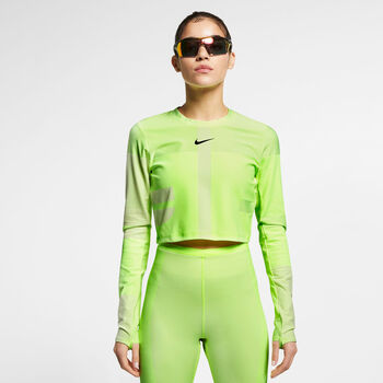 Nike RN Knit Tech Pack longsleeve Dames Geel