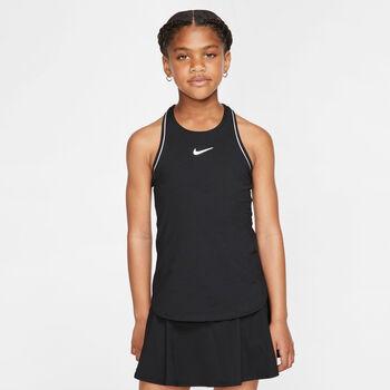 Nike Court Dry top Meisjes Zwart