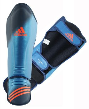ADIDAS BOXING Speed Grappling Shin-n-Step scheenbeschermers Heren Blauw