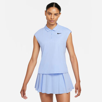 NikeCourt Victory polo Dames Blauw