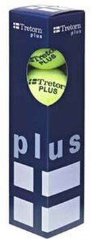 Tretorn Plus 4-pack tennisballen Geel