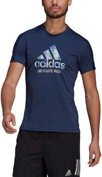 adidas Run for the Oceans Graphic T-shirt Blauw