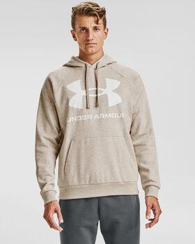 Under Armour Rival Fleece Big Logo hoodie Heren Bruin