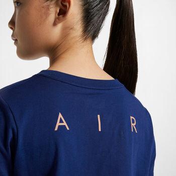 Nike Sportswear Air Crop shirt Meisjes Blauw