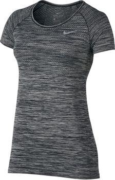 Nike Dri-FIT Knit shirt Dames Zwart