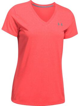 Under Armour Threadborne Train Twis shirt Dames Rood