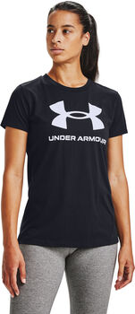 Under Armour Live Sportstyle Graphic shirt Dames Zwart