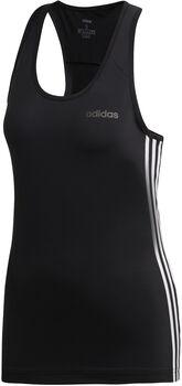 ADIDAS Design 2 Move 3-Stripes top Dames Zwart