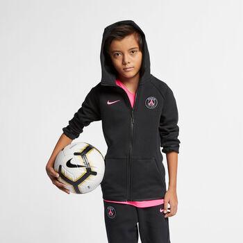 Nike PSG Sportswear Tech Fleece Essentials hoodie Jongens Zwart