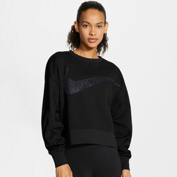 Nike Dri-FIT Get Fit Sparkle top Dames Zwart