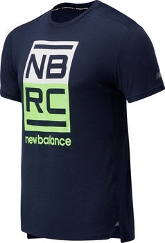 New Balance Printed Impact Run shirt Heren Rood