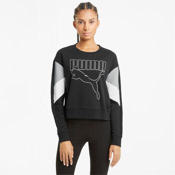 Puma Rebel Crew sweater Dames Zwart