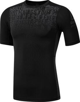 Reebok ActivChill Graphic Compression shirt Heren Zwart