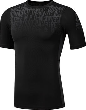 Reebok ActivChill Graphic Compression shirt Heren Zwart