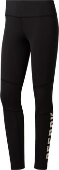 Reebok Gymana Logo tight Dames Zwart