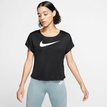 Nike Swoosh Run shirt Dames Zwart