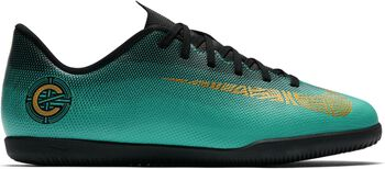 Nike Vapor X 12 Club CR7 jr zaalvoetbalschoenen Jongens Groen