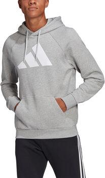 adidas Sportswear Badge of Sport Hoodie Heren Grijs