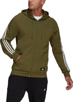 adidas Sportswear 3-Stripes Trainingsjack met Capuchon Heren Groen