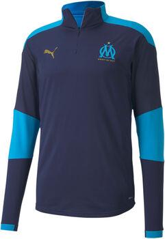 Puma OM Training 1/4 Zip shirt Heren Blauw