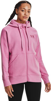 Under Armour Rival Fleece Full Zip hoodie Dames Roze