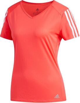 ADIDAS Running 3-Stripes shirt Dames Zwart