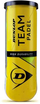 Dunlop Team Padel ballen (3 stuks) Geel