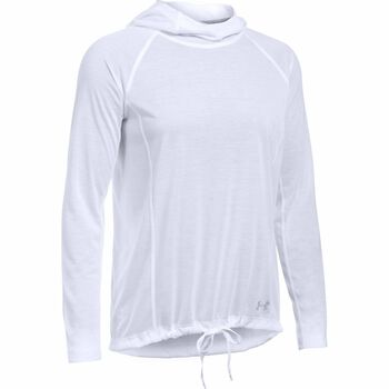 Under Armour Threadborne Train hoodie Dames Wit