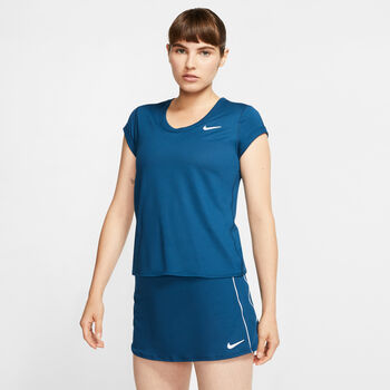 Nike Court Dry shirt Dames Blauw