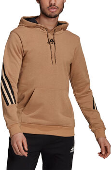 adidas Sportswear 3-Stripes Tape Summer Hoodie Heren Bruin