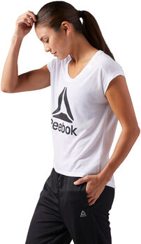 Reebok Workout Ready Supremium 2.0 Big Logo shirt Dames Wit